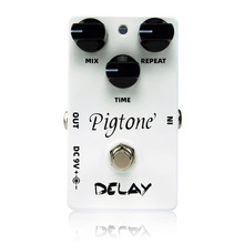 цена на Pigtone PP-07 delay Guitar effect pedal acoustic electric guitar accessories effects pedals Real bypas