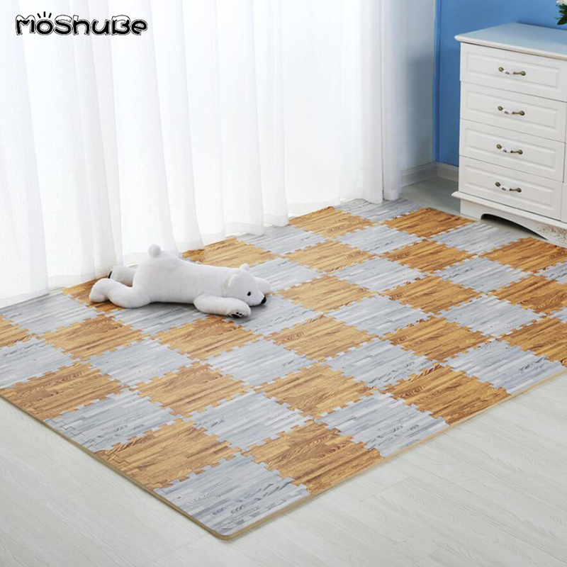 Wooden Puzzle Kids Rug 30*30cm Waterproof Stitching Bedroom Soft Floor Crawling Baby Play Mat Toys For Children's Carpet​