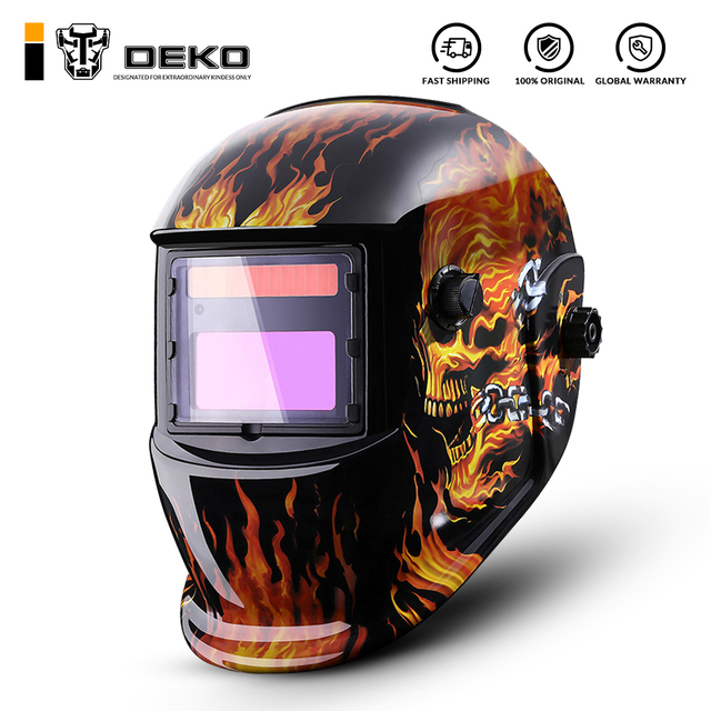 DEKO Auto Darkening Adjustable Range MIG MMA Electric Welding Mask Helmet Welding Lens for Welding Machine 1