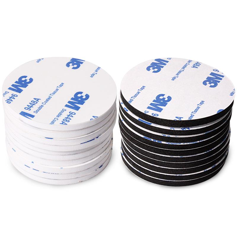 10pcs/set 3M Strong VHB Tape Double Sided Black Acrylic Foam Tape Pad Mounting Round Rectangle Adhesive For Car DIY Home Decor