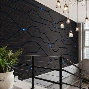 3D Black Metal Circuit Board Industrial Decor Wall Paper Technology Company Decor Mural E-sports Hall Internet Bar KTV Wallpaper(China)