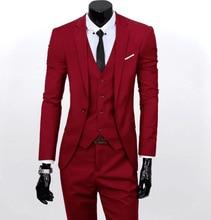 Suit Mens Three-piece Suit,Suit Slim Groomsman Groom Wedding Dress,Man Suit,Men Suits for Wedding,Black Dress Dinner ,
