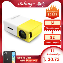 Salange Mini Projector Media-Player YG-300 Audio-320x240-Pixels Lumen HDMI Home 600 USB