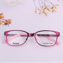 La llanta de niños y niñas marcos ópticos 6-10 AÑOS NIÑOS gafas puede poner computadora miopía lente graduada vintage Monturas