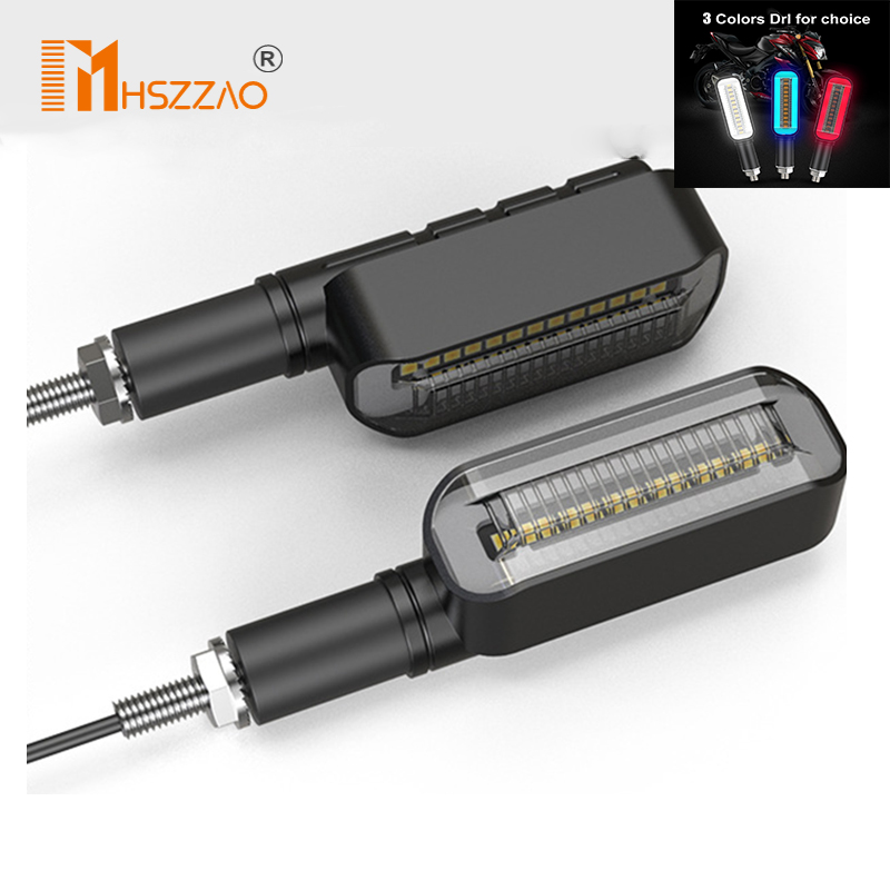 1/4 Pcs 12V Motorcycle LED Left and Right Turning Lights Directional Lights Daytime Running Lights Front and Rear Direction Ligh