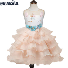Menoea Happy Birthday Costume New Arrival Girls Princess Dress Cute Party Dresses Outfits Kids Outwear Children Clothing