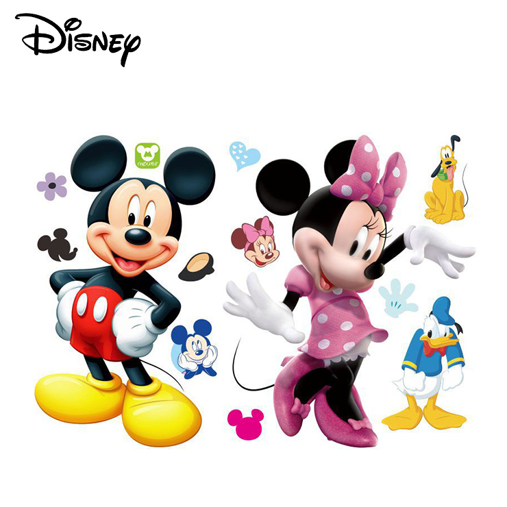 Disney Fashion Mickey Minnie Mouse Diy Little Sticker Removable Waterproof Cartoon Sticker Kids Baby Decal Decoration Stickers Aliexpress