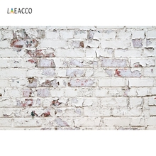 Laeacco Old White Shabby Grungy Brick Wall Wood Floor Photography Backdrops Vinyl Customs Photo Backgrounds For Photo Studio 12ft vinyl cloth dark old brick wall wood floor photo studio backgrounds for model newborn portrait photography backdrops f 257