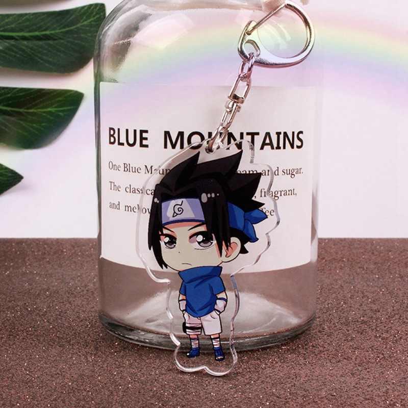 Naruto Keychain Schlüssel Ring-Halter-Stand Unterstützung Action Figure Anhänger Zubehör Minato Uchiha Madara Akatsuki