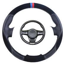 Artificial leather car steering cover hand-stitched steering wheel braid for Kia Sorento 2015 mewant black artificial leather car steering wheel cover for kia k5 optima 2014 2015