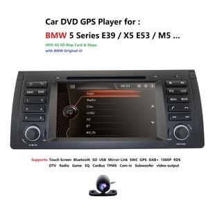 Image 1 - 2Din 7 DVD לרכב מולטימדיה נגן ראש יחידה עבור BMW E53 E39 X5 GPS Navi RDS SD USB היגוי גלגל שליטה מראה קישור Bluetooth