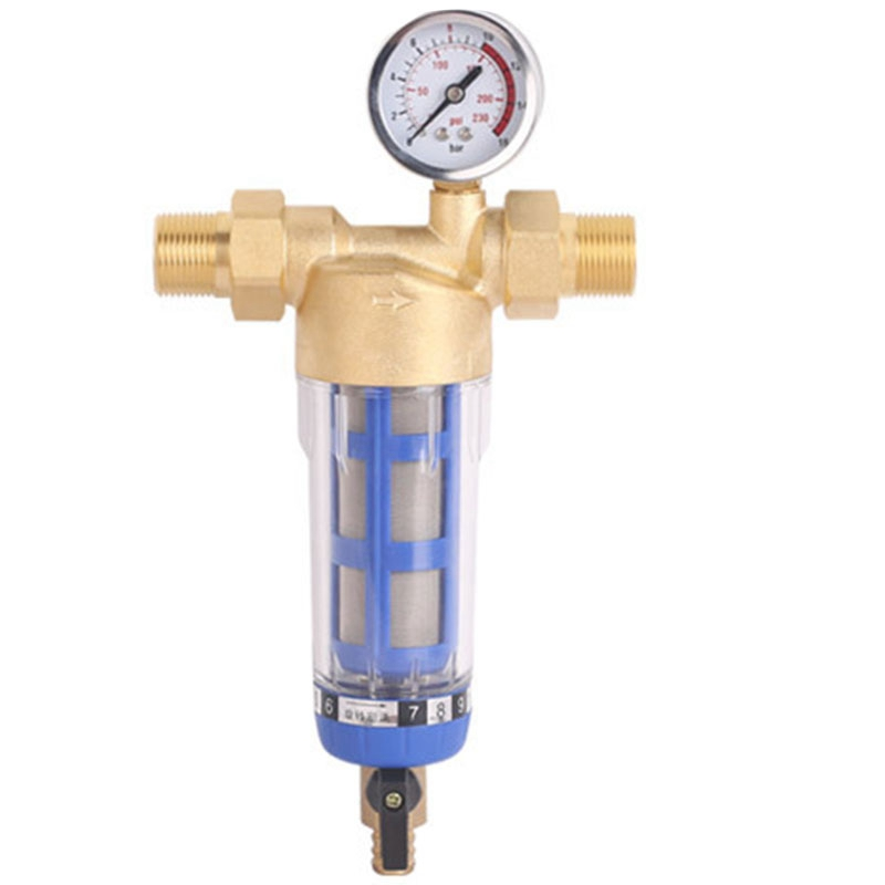 Hot 1 Inch Copper Backwash Water Pre Filter Household House Water Filter Pipes Central Water Purifier Descaling