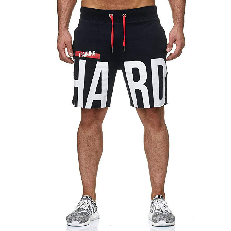 Summer Mens Shorts Bodybuilding Breathable Fast Dry Leisure Joggers Length Sweatpants Male Fitness Workout Beach Boardshorts