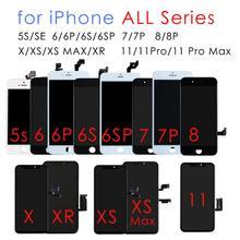 AAA LCD عرض ل فون 8 7 6s 6 زائد اللمس شاشة LCD Pantalla استبدال ل فون 6s 7 8 6 5s عرض محول الأرقام الجمعية