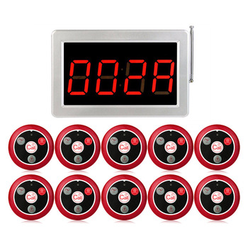 Système d'appel sans fil RETEKESS 999 canaux RF pour système de téléavertisseur de Service de Restaurant 1 récepteur hôte  10 boutons d'appel