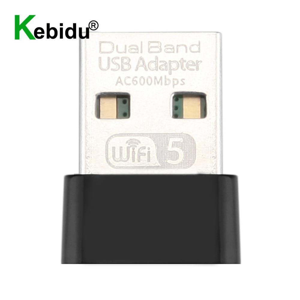 Kebidu 600 Мбит/с USB Беспроводной 2,4G & 5G Вай-Фай адаптер высокоскоростной сетевой карты RTL8811 Dual Band 802,11 AC антенна для ноутбука, настольного компьюте...