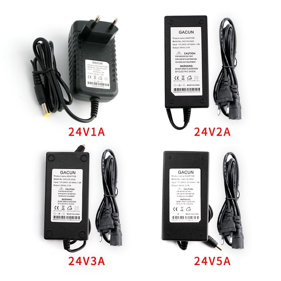 Адаптер питания переменного тока в постоянный ток 24 В 1A 2A 3A 5A преобразователь трансформатор 24 в источник питания зарядное устройство для св...