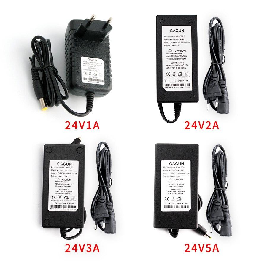 24В вольт питания адаптер питания для 24В 1А 2А 3А 5А конвертер трансформатор 24В источник питания зарядное устройство для светодиодной ленты и ...