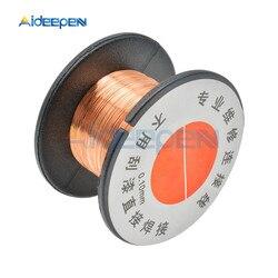 5Pcs 0.1mm Copper Solder Soldering Welding Wire PPA Enamelled Reel Wire Mobile Phone Computer PCB Welding Repair Tool