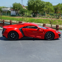 1/18 scale static simulation alloy simulation sports car model die cast metal car toy collection children's souvenir display