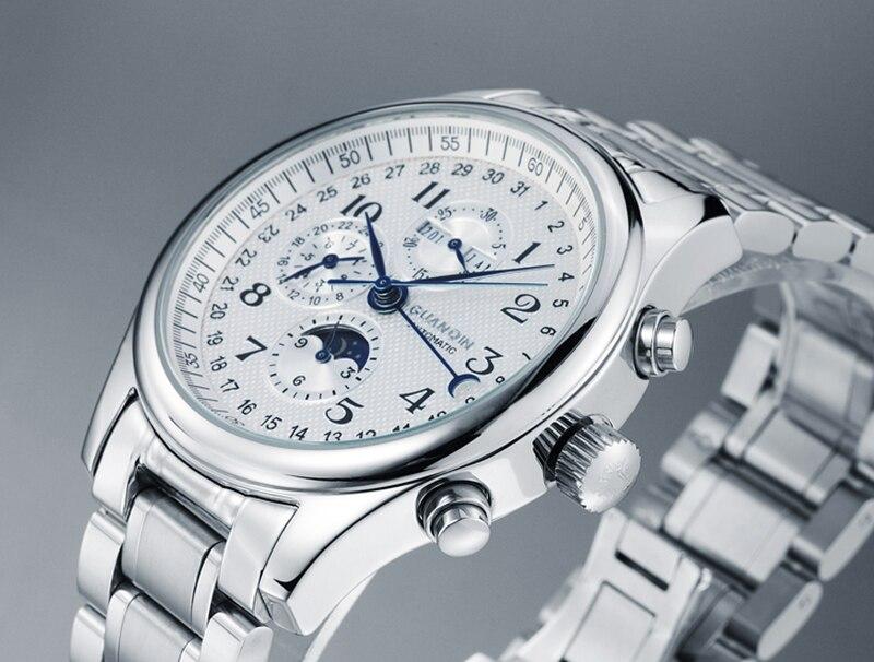 Hdf0fd4d494ed4887836e4f8893d8c8bdq GUANQIN Relogio Masculino Automatic Mechanical Men Watches Waterproof Calendar Moon Leather Wristwatch otomatik erkek saat