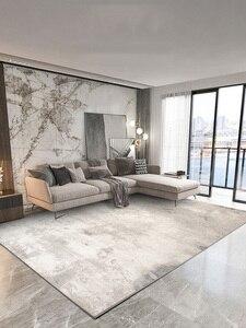Скандинавский простой серый ковер для гостиной, Роскошный домашний толстый ковер для спальни, дивана, журнального столика, современный ков...