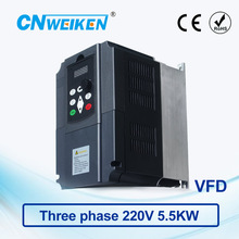 WK600 Vector Control frequency converter 5.5kw three-phase 220V to Three-phase 220V VFD inverter Engine Frequency Controller