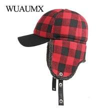 Wuaumx зимние шапки бомберы мужской плотный русский Охотник