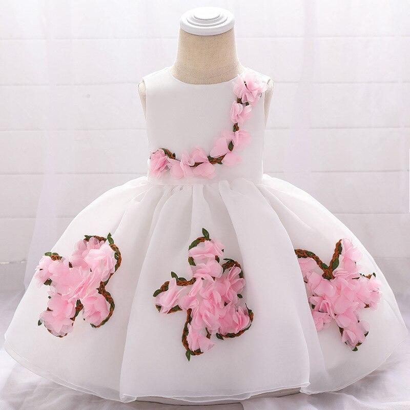 Organza Babies' Dress Flower Boys/Flower Girls Wedding Dress Puffy Princess Skirt Dress Infant A Year Of Age BABY'S FIRST Month