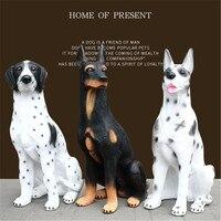 Oversized Simulation Animal Dog Doberman & Dalmatian Art Craft Garden Window Decoration Action Figure Collectible Model Toy