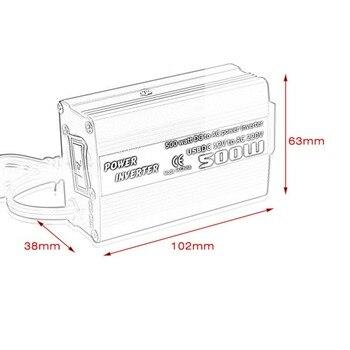 500 Вт DC В AC преобразователь питания DC 12 В до 110 В 220 В AC автомобильный инвертор автоматический трансформатор с двойным USB автомобильным адапте...
