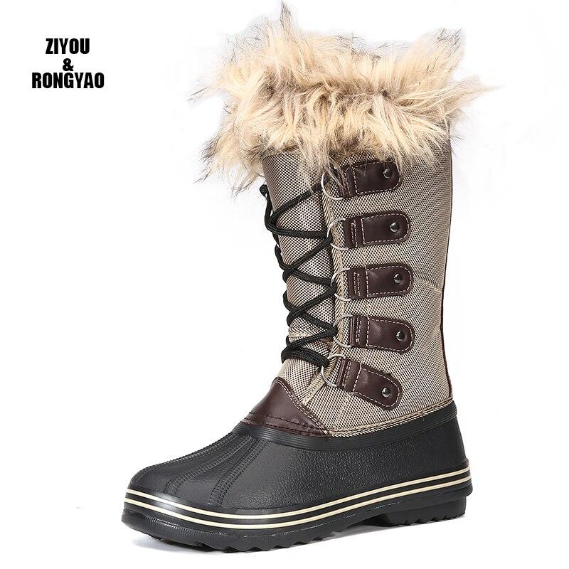 Зимние сапоги женская обувь 2020 зимние сапоги из меха, теплая обувь с плюшевой подкладкой, обувь размера плюс размер от 35 до большого 42 Легкая Одежда для девочек; Белая обувь с застежкой молнией женские красивые ботинки|Зимние сапоги| | АлиЭкспресс