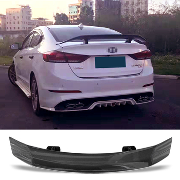Trunk Spoiler Carbon Surface TC Style Car Accessories Rear Wing For Hyundai Elantra 2012-2019