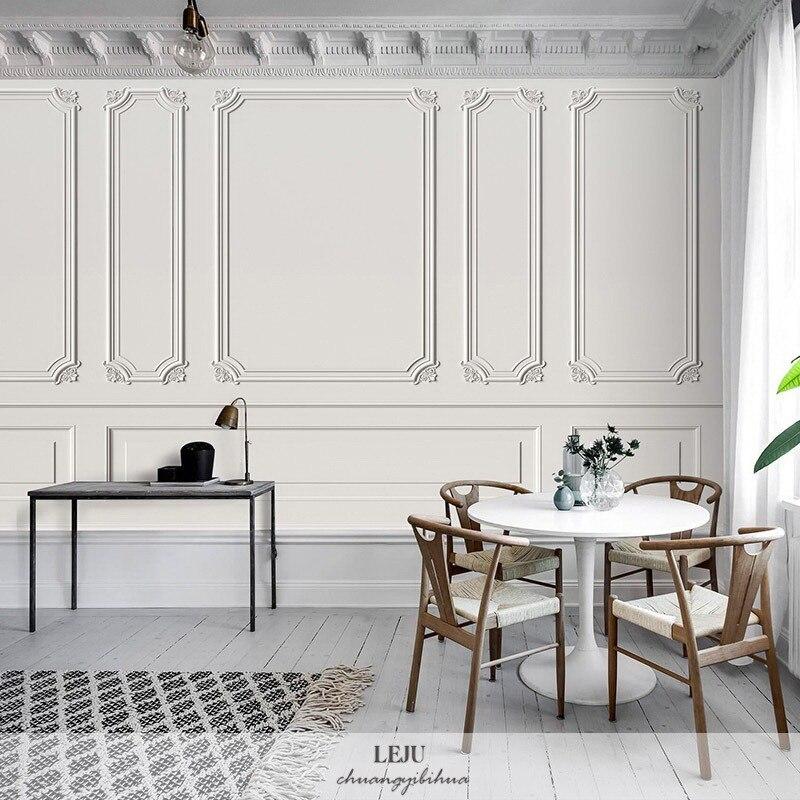 3D Post-modern Plaster Wallpaper Light Luxury Wind Relief Decorative Pattern Bedroom Clothing Store Studio Background Wallpaper