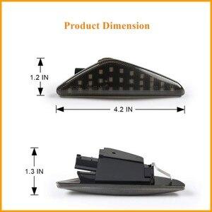 Image 3 - Becar 2 pces âmbar dinâmico led lado marcador transformar a luz do sinal para bmw e70 x5 e71 x6 f25 x3 substituir oem lado marcador luz à prova dwaterproof água