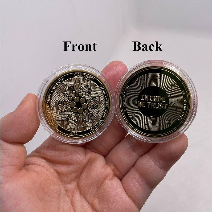 CO28-1 крипто монет криптовалюты Ada Cardano монета серебро Йота монеты, памятные монеты для сбора и подарок