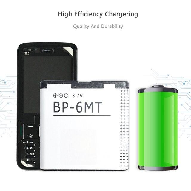 Batterie de Téléphone portable Pour Nokia N81 N82 N81-8G E51 E51i 6720 6720C Remplacement Batterie BP-6MT 1050mAh