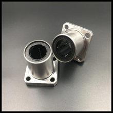 1-2 pçs/lote LMK6UU/LMK8UU/LMK10UU/LMK12UU/LMK16UU/LMK20UU Praça Tipo Flange Movimento Linear Bearing 3D Haste Linear de Impressora Parte