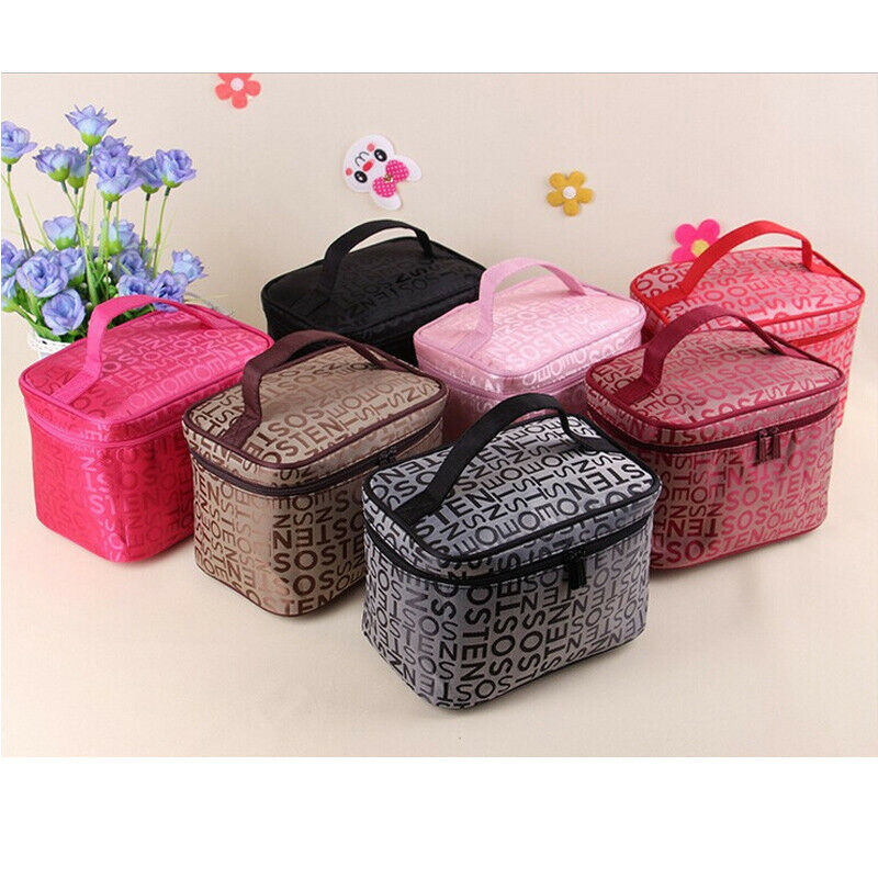 Multifunction Portable Travel Cosmetic Makeup Bag Wash Toiletry Organizer Case Makeup <font><b>Organizers</b></font> 2019 New image