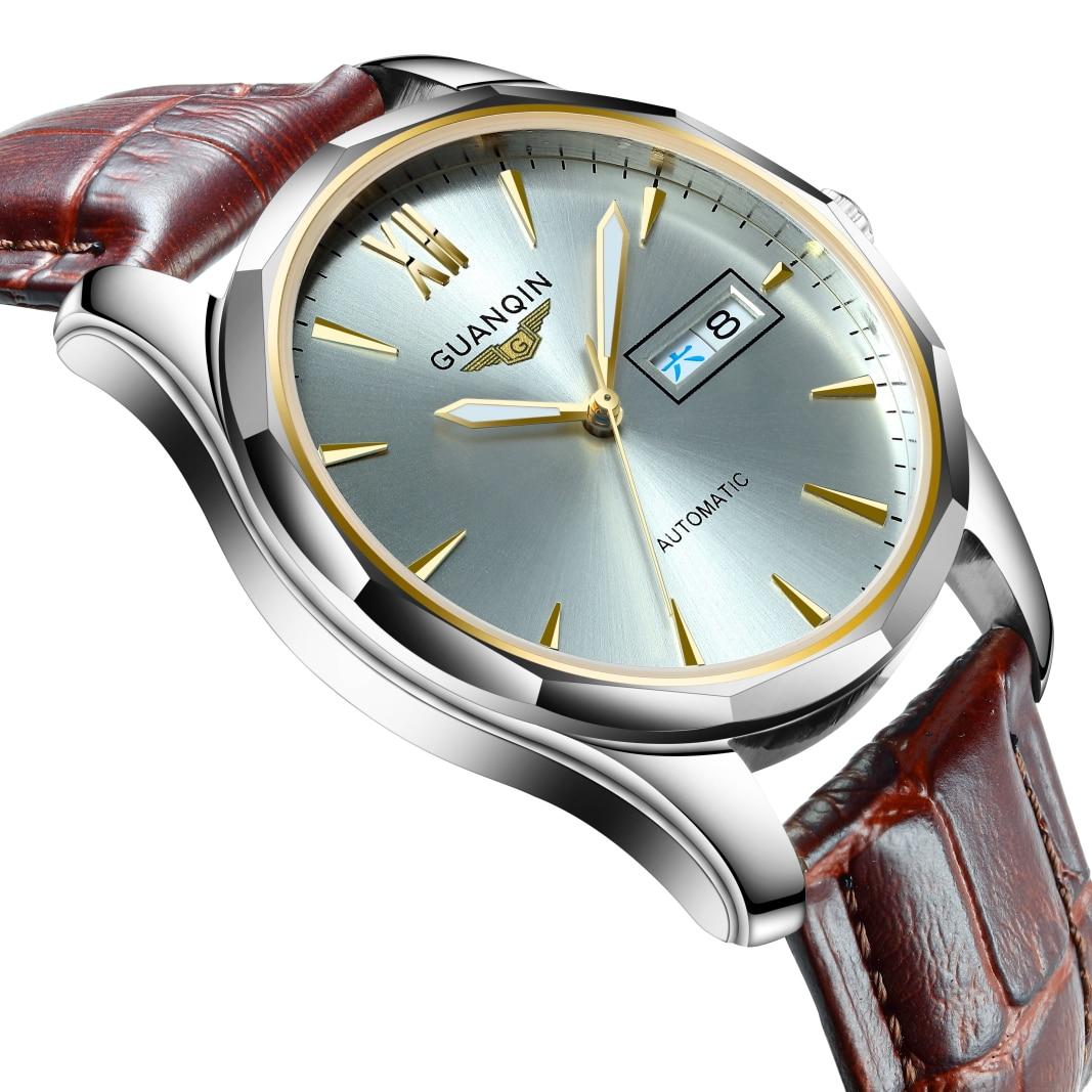 Guanqin japão nh36 movimento masculino relógio mecânico