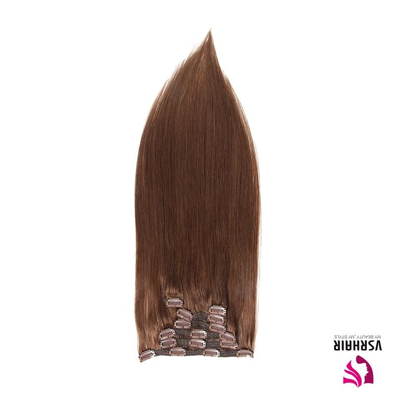 VSR Machine Remy Hair Extensions Hair Bottom Natural Clips Ins Human Hair Clip In Hair