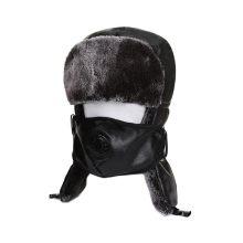 unisex bomber hat winter fur earflap brown caps ushanka hats cap bomber hat Ear helmet for mens and women pu leather ushanka duoupa russian leather bomber leather hat women winter hat earflap real fox fur genuine leather caps with earflaps ushanka