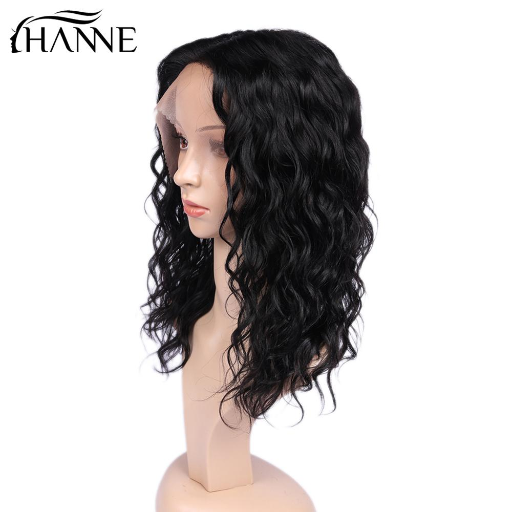 Lace Front Human Hair Wigs Natural Wave Glueless Lace Hair Wig Brazilian Hair Lace Human Wigs Front Wig 14Inches For Black Women