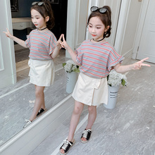 Summer Girls Clothes Set Baby Kids Girl Clothing Children Outfits Striped T-shirt + Shorts 2Pcs Suits Girls Casual Tracksuit toddler girl outfits 2018 striped patchwork t shirt tops denim pants clothes kids 2 pcs autumn suits children outfits clothing