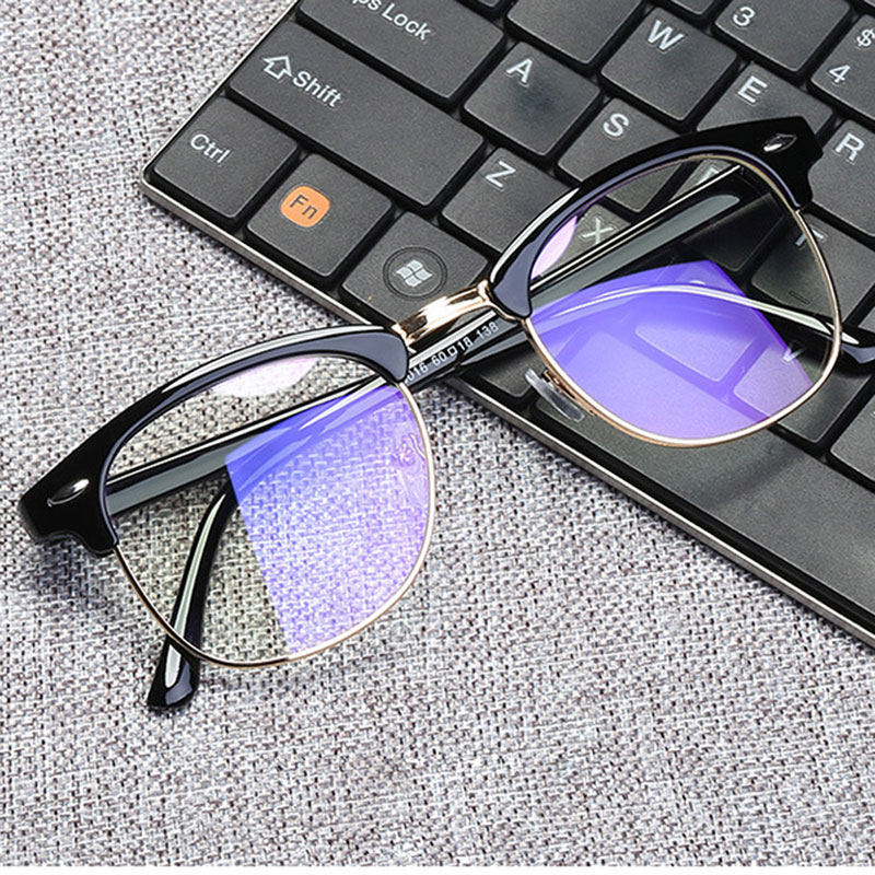 Women Anti Blue Rays Glasses Men Square Computer Eyeglasses Frame Protection Blue Light Blocking Unisex Working Eyewear 2019