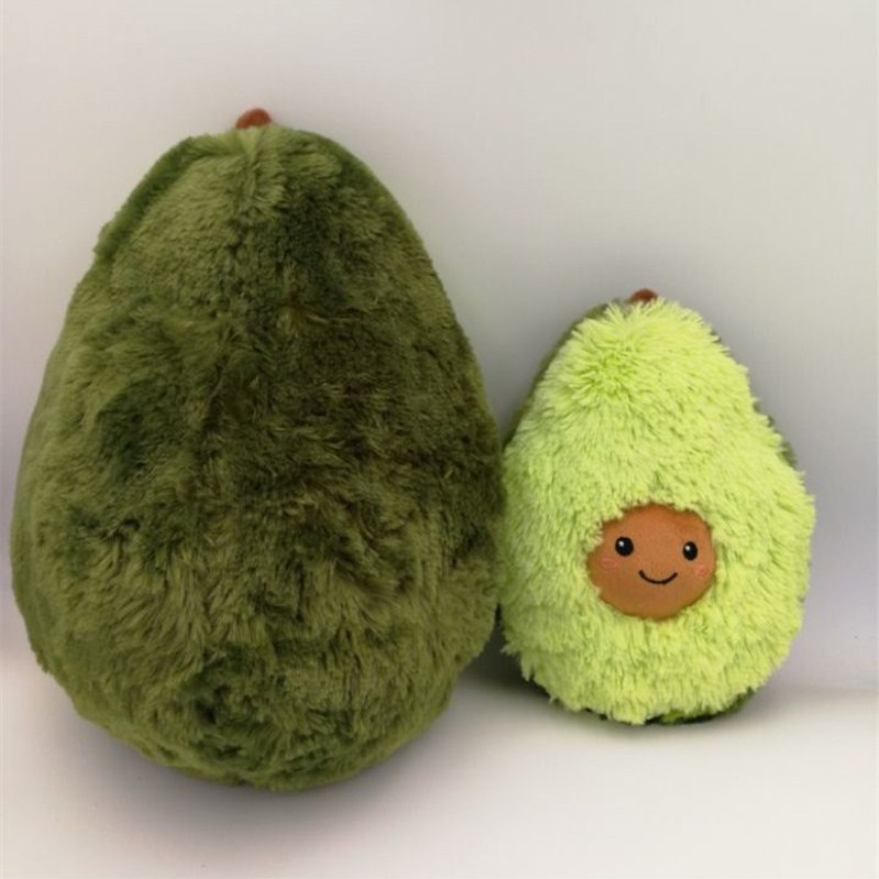 10/20/25/30CM Cute Avocado Plush Soft Stuffed Toys Cartoon Fruit Plants Baby Doll Kawaii Toy Avocado Kids Christmas Gifts