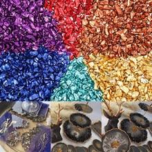 20 G/partij Multi-color Mengen Nail Art Verpletterd Glas Nail Stones Gebroken Glas Steen Voor Diy Epoxyhars Vulmiddel ketting Hanger