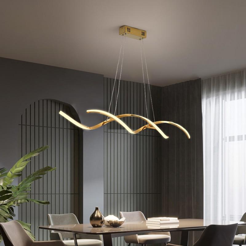 Bicromato di potassio Placcato Oro Appeso NEW Modern Lampade a sospensione Per La Sala da pranzo Cucina In Camera Home Deco Apparecchio Lampada a Sospensione apparecchio - 4