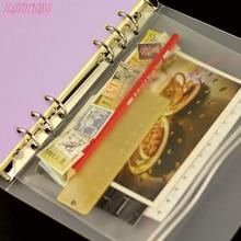 1 шт. 5% 2FA6% 2FA7 на молнии блокнот сумка прозрачный ПВХ хранение сумка органайзер сумка квитанция чехол папка сумка с 6 отверстиями оптовая продажа