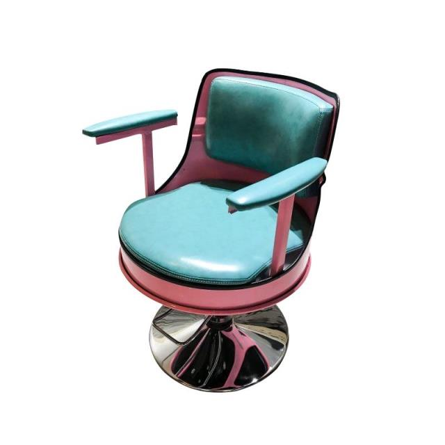 Retro Hairdressing Chair Haircut Chair Hair Salon Special Barber Shop New Wrought Iron Rotary Lifting Work Stool
